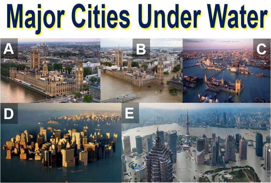 Major cities under water