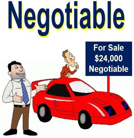 Negotiable