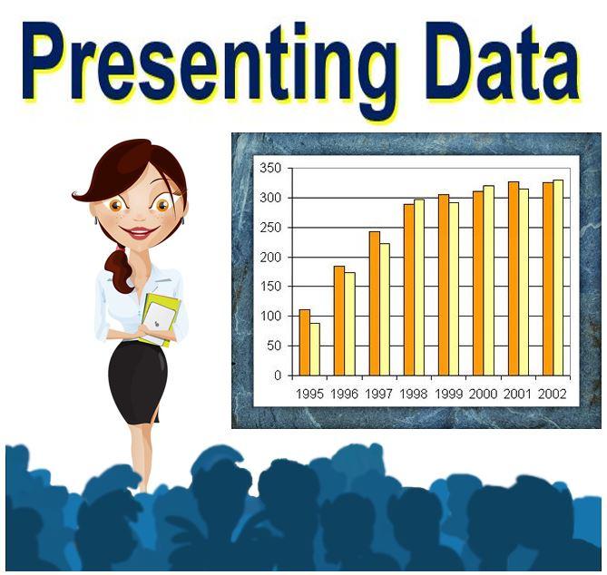 statistician presenting data