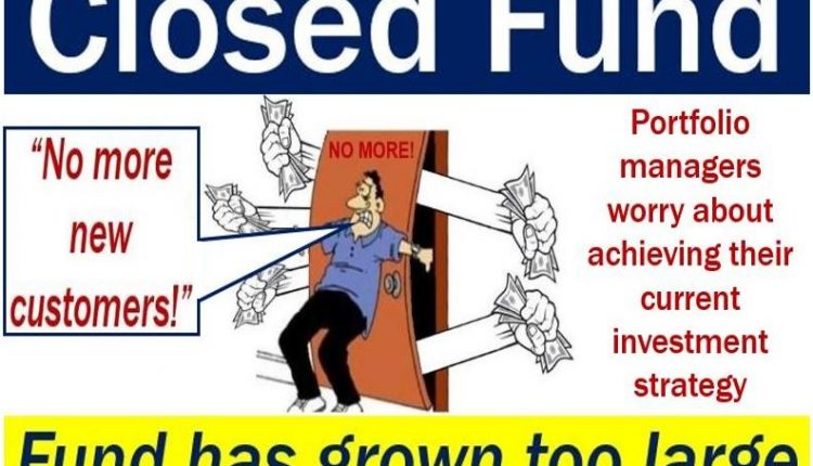 Closed fund - picture with explanation