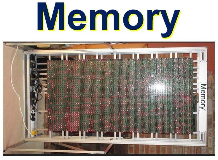 Megaprocessor memory