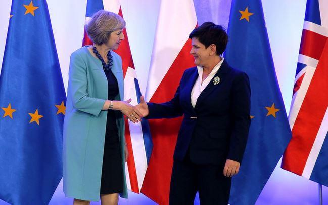 Theresa May and Beaty Szydło
