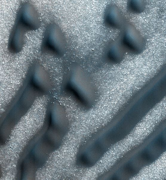 Unusual markings on Red Planet surface