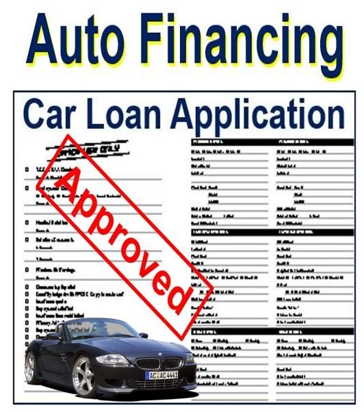Used Car Dealership >> Auto financing - definition and meaning - Market Business News