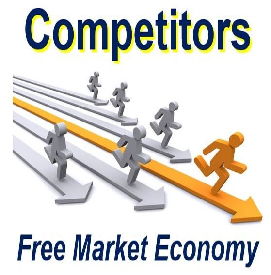 Competitors in the free market economy