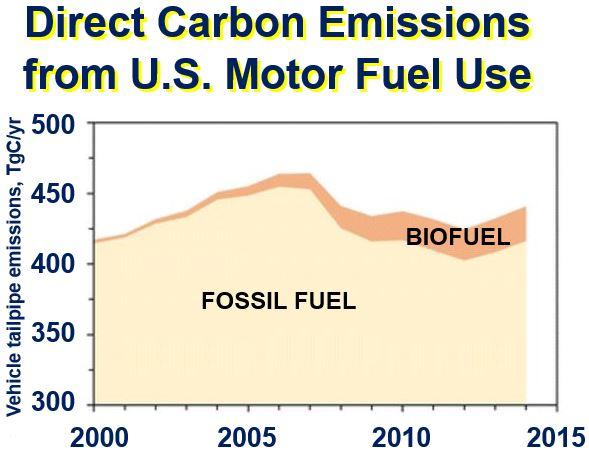 Direct carbon emissions from motor fuel use