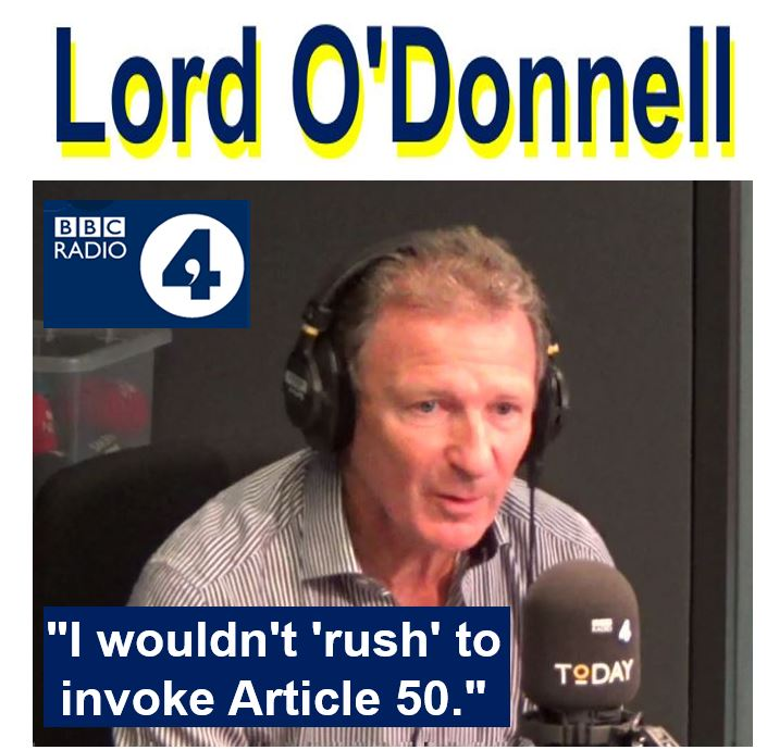 Lord ODonnell Radio 4 former civil service chief