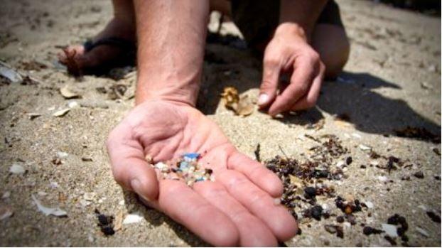 Microbeads on a beach