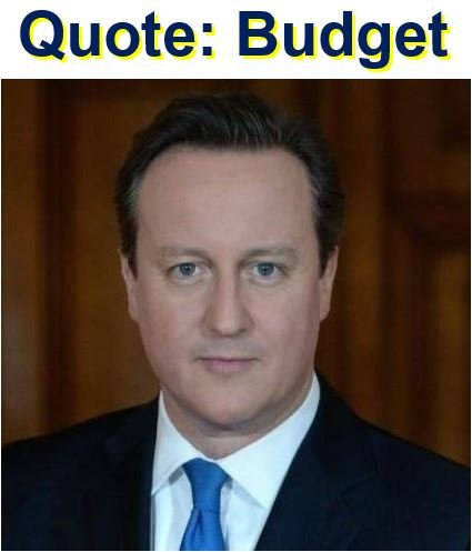 Quote with David Cameron former PM of UK