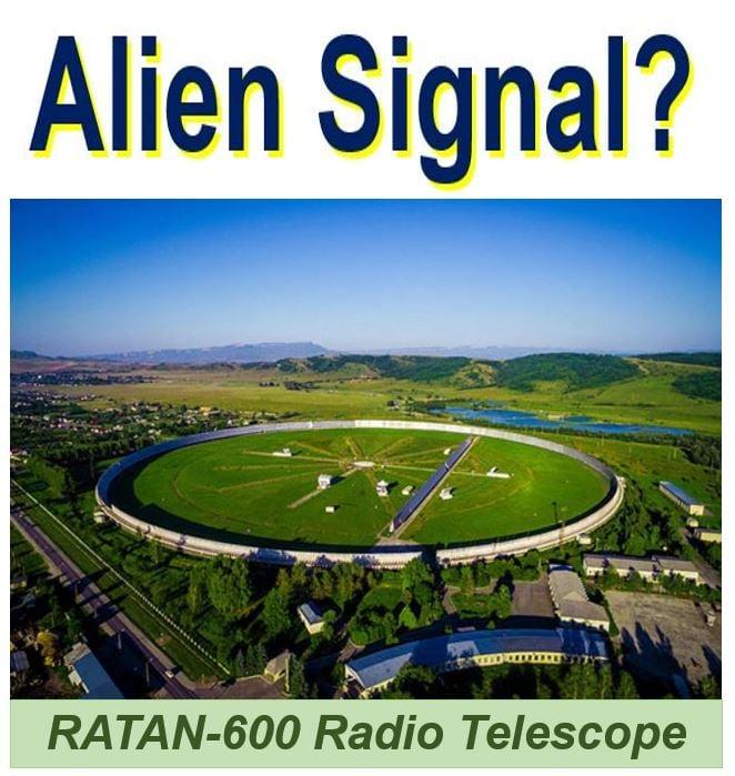 Ratan 600 radio telescope Alien Signal