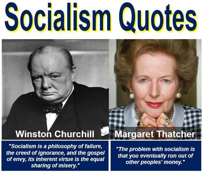 Winston Churchill and Margaret Thatcher