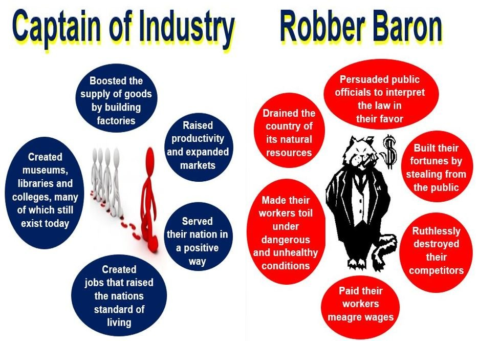 robber barons or captains of industry dbq essay Throughout these men's reign, they were known as industrial statesmen and  captains of industry these titles praised the men who built their although they were industrial statesmen, it is justifiable to say that the industrial leaders of the 1865-1900 era were also robber barons there is no doubt that even the most.