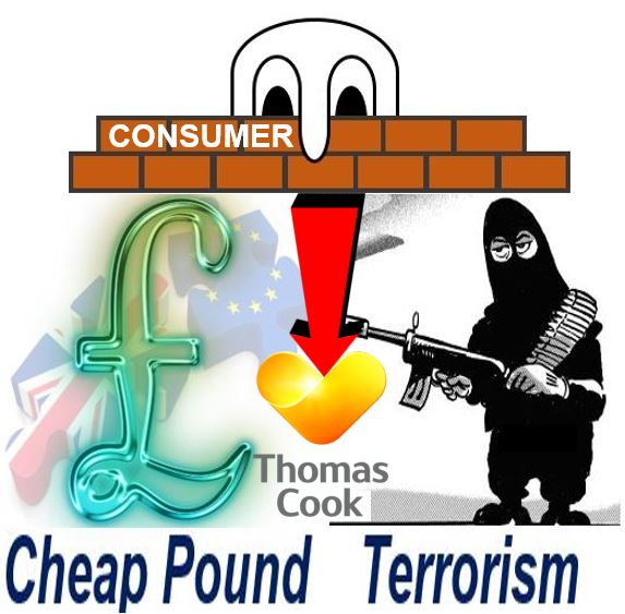 Cheap pound and terrorist threat affected Thomas Cook