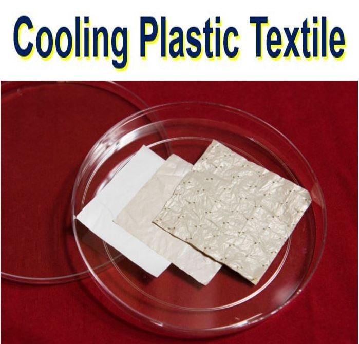 Cooling plastic textile