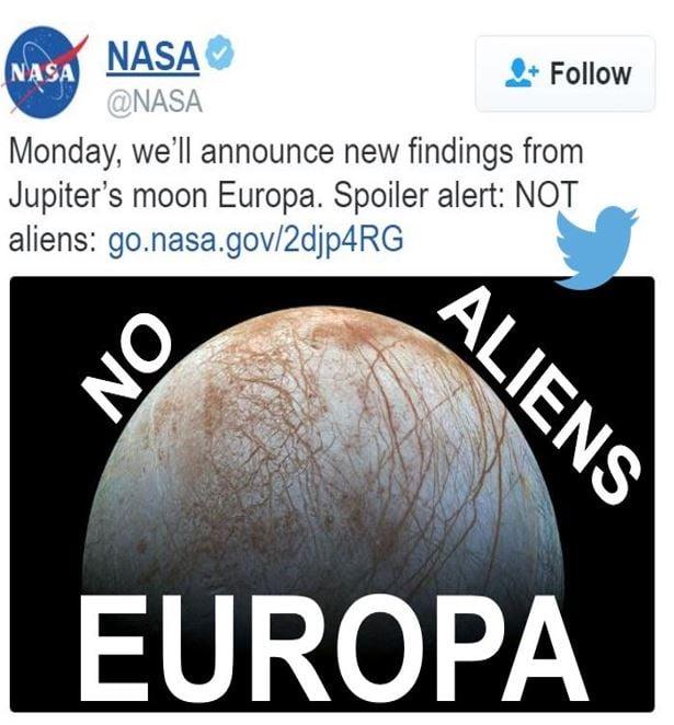 Europa No Aliens