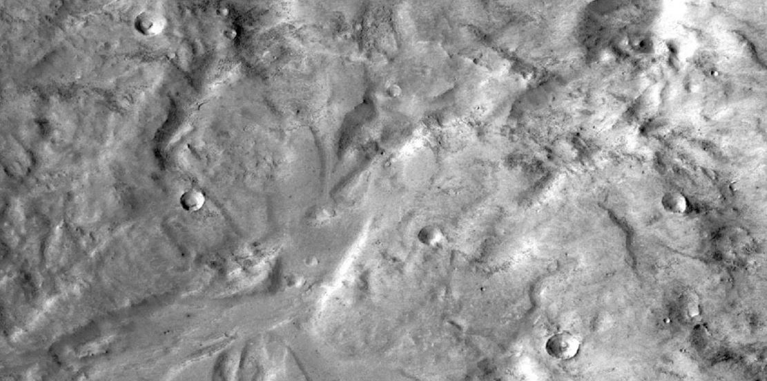 Formations on the surrface of the Red Planet