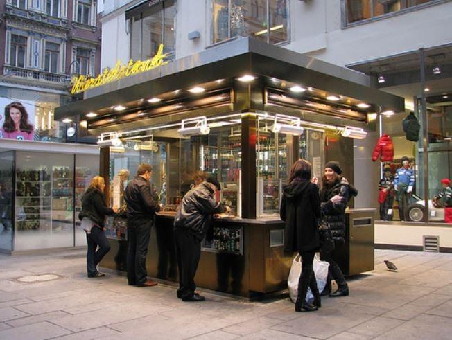 Sausage stand in Vienna