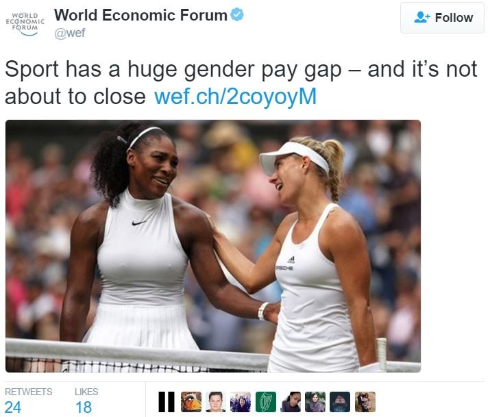 Gender pay gap in sports
