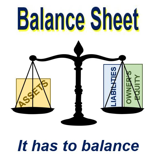Balance sheet has to balance out
