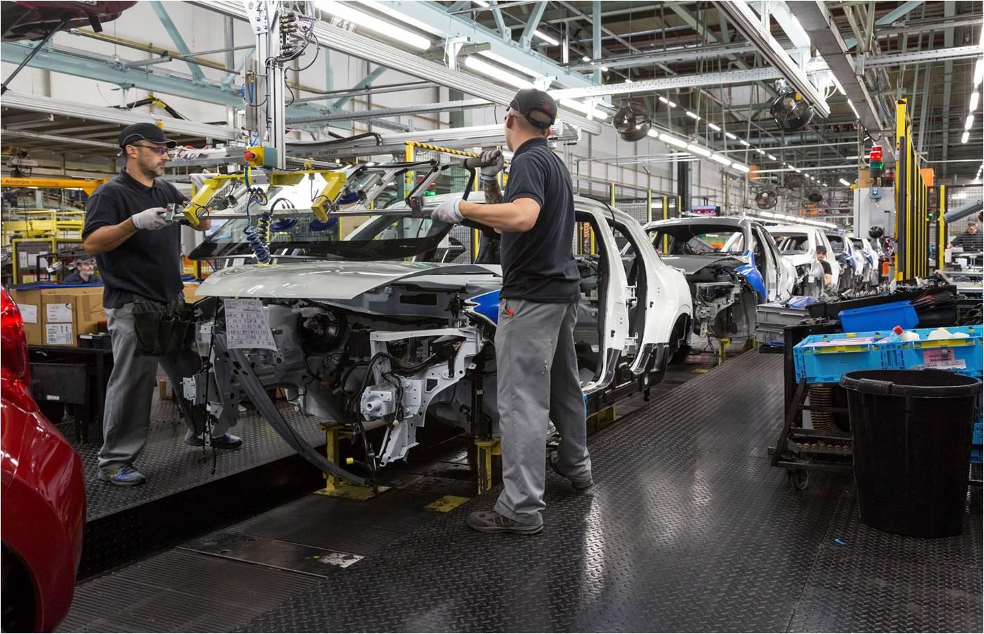 Juke manufacturing line at Nissan Sunderland