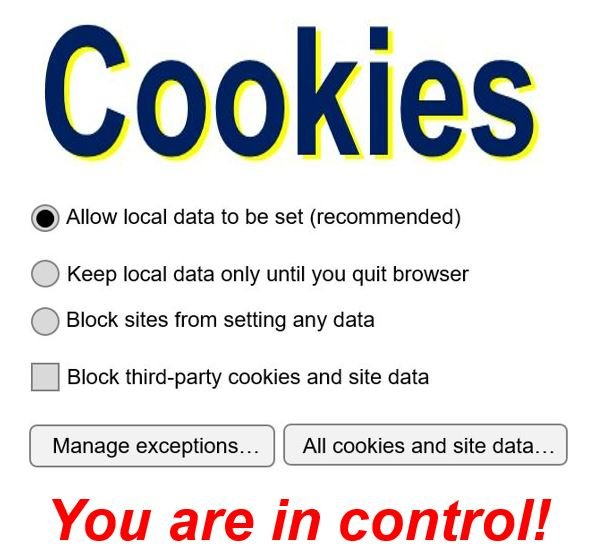You can control cookies