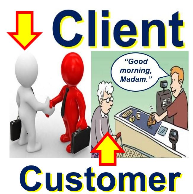 Client versus customer