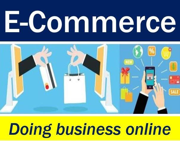 E-commerce - doing business online image