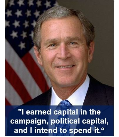 George W Bush political capital
