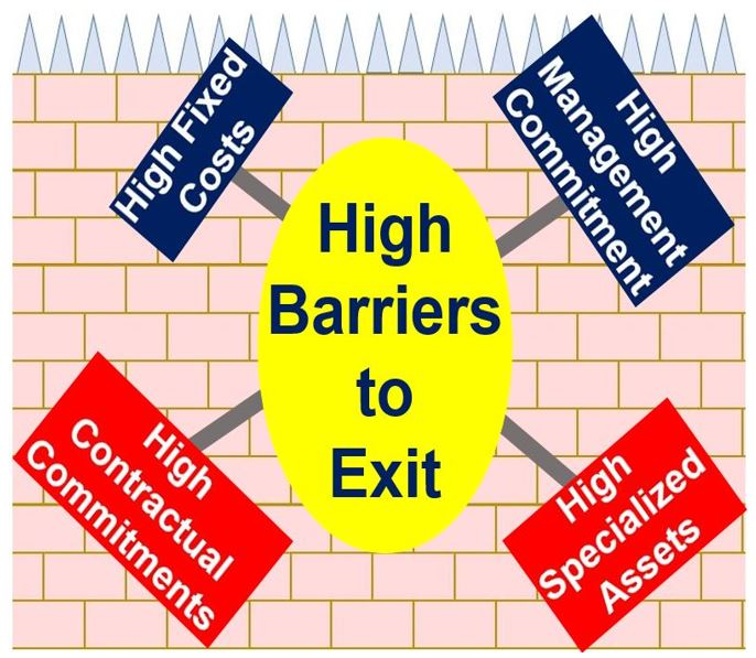barriers to entry and exit essay Eco 204 week 4 dq 2 barriers to entry barriers to entry analyze the major barriers for entry and exit into the airline industry explain how each barrier can foster either monopoly or oligopoly.