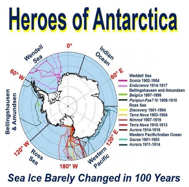 Heroes of Antarctica map