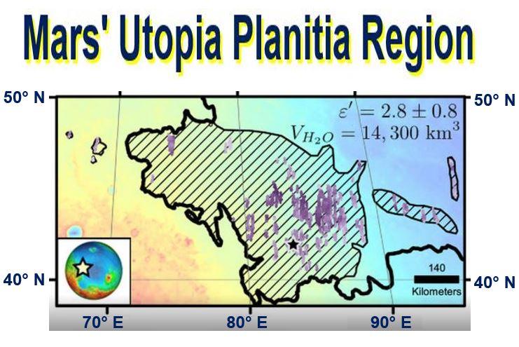 Part of Utopia Planitia region on Mars