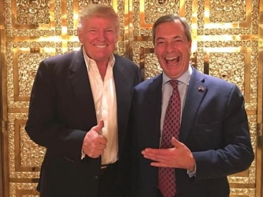 Trump and maybe future Ambassador Farage
