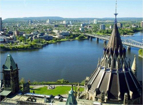 green electricity ottawa river parliament