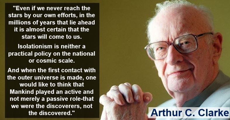 Arthur C Clarke anti-isolationist quote