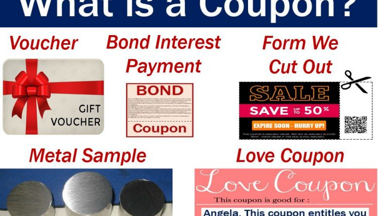 Coupon - image with five definitions