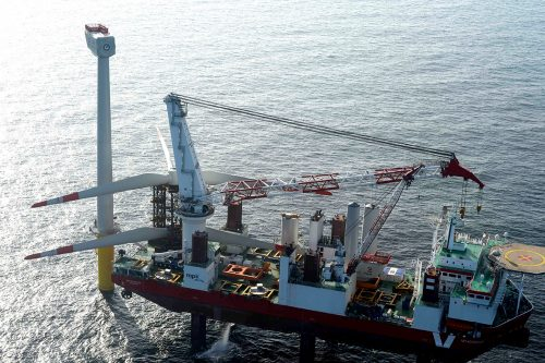 Germany's electricity - offshore wind turbines