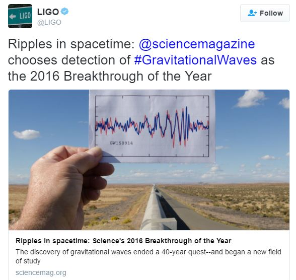 Gravitational waves - ripples in spacetime
