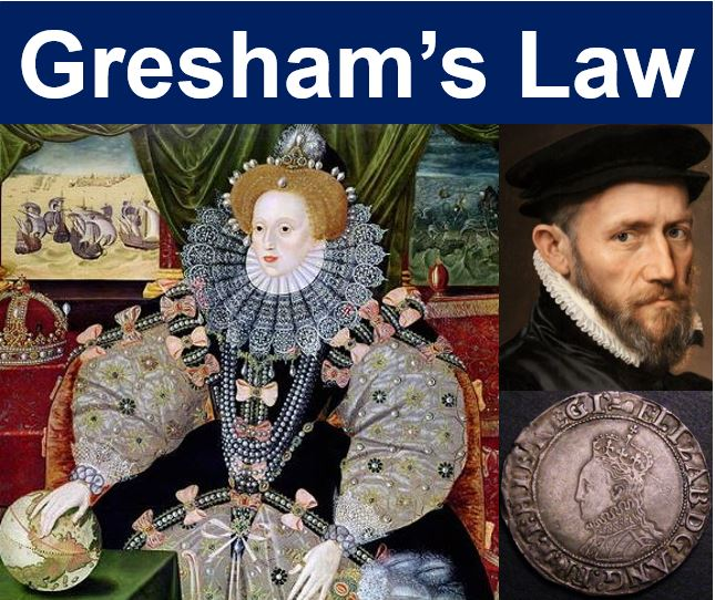 Gresham's Law - Elizabeth I Thomas Gresham and a shilling