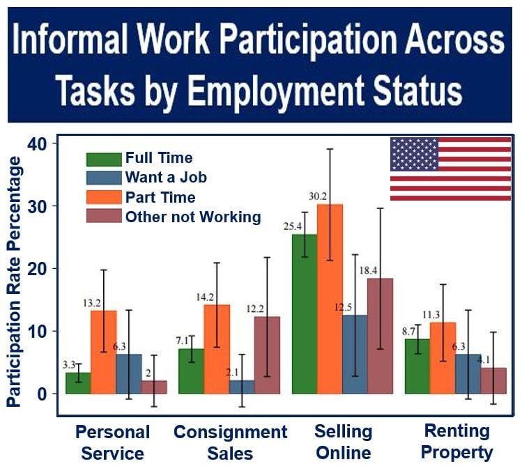 USA: Informal Sector work participation across tasks
