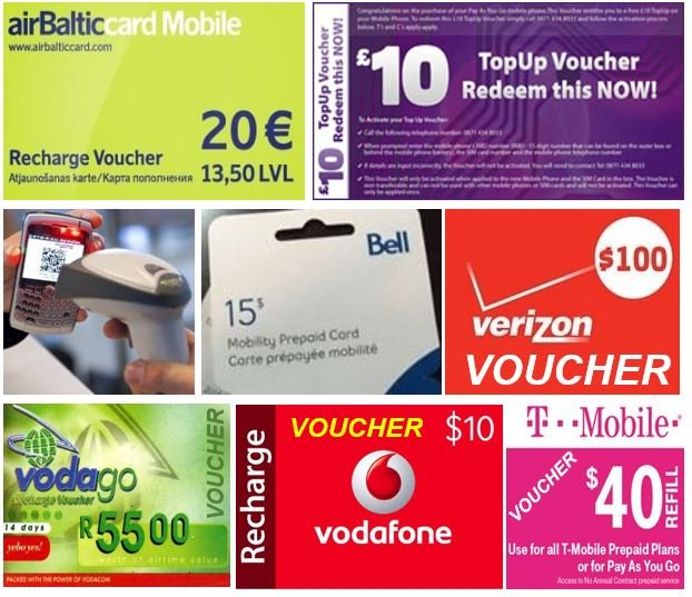 Mobile phone voucher