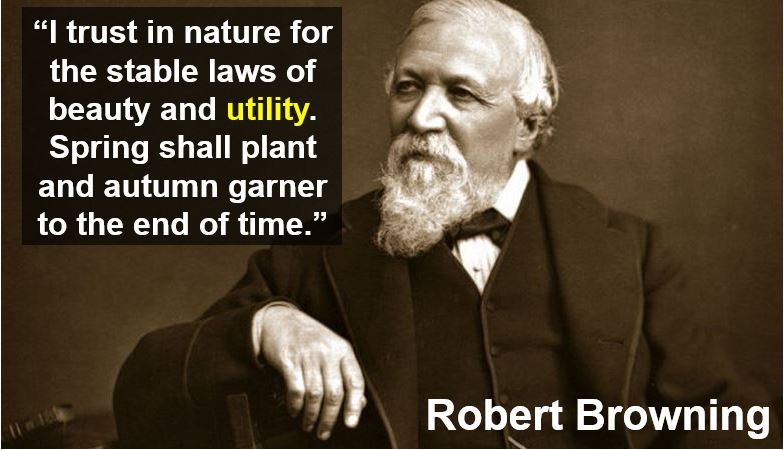 Robert Browning utility quote