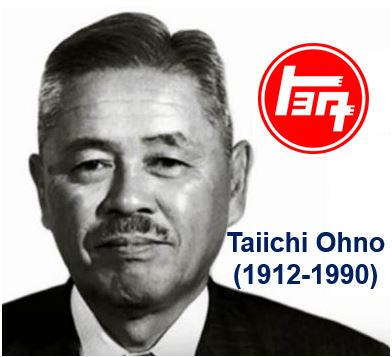 Taiichi Ohno father of Toyota just in time system