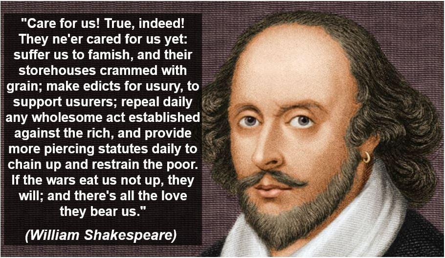 William Shakespeare usury quote