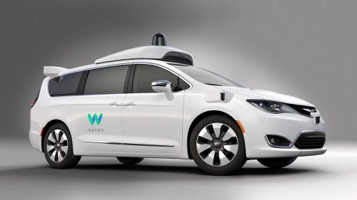 Waymo self-driving minivan