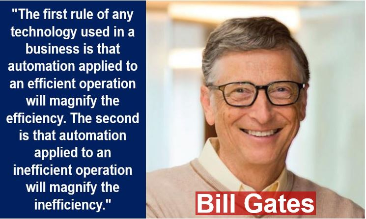 Bill Gates - new economy quote