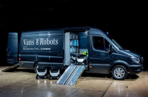 Mercedes-Benz Vans' mothership for ground drones