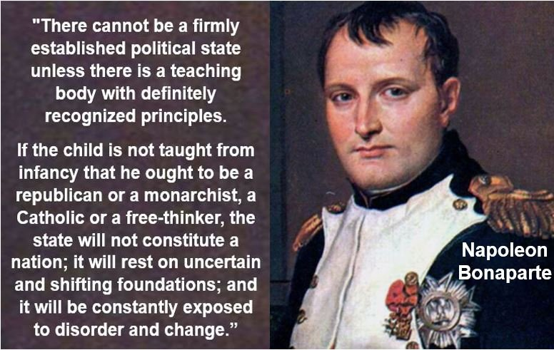 Napoleon Bonaparte - Nation-building quote