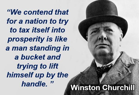 Winston Churchill taxation quote