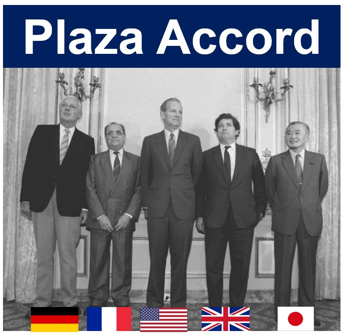 Plaza Accord Finance Ministers