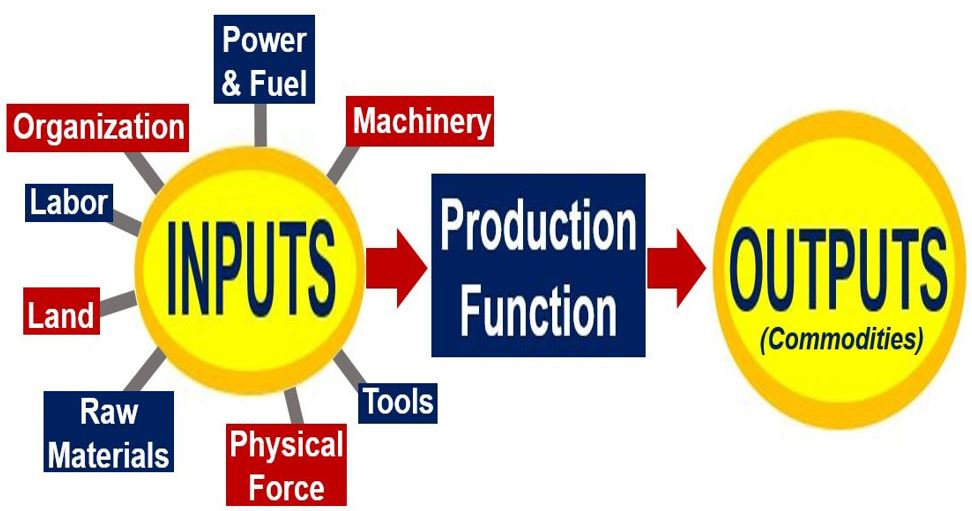 Production Function - Inputs and Outputs image